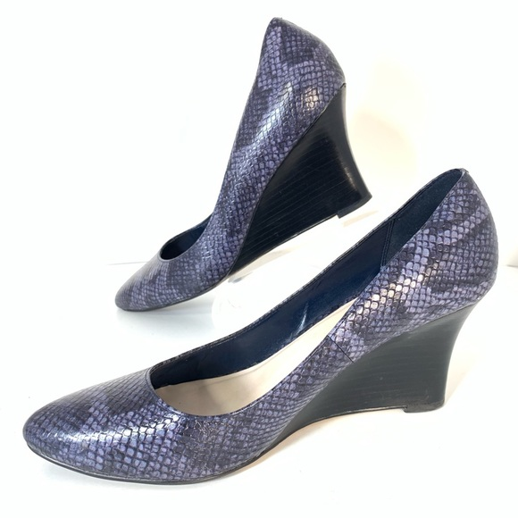 8e3b439bb Cole Haan Shoes | Sadie Wedges Rare Purple Snakeskin Sz 10 | Poshmark
